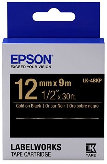 C53S654407 - LK-4BKP (Gold on Black/12mm)