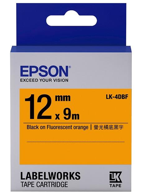 C53S654416 - LK-4DBF (Black on Fluorescent Orange/12mm)