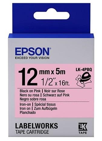 C53S654444 - LK-4PBQ (Iron On Black on Pink/12mm)