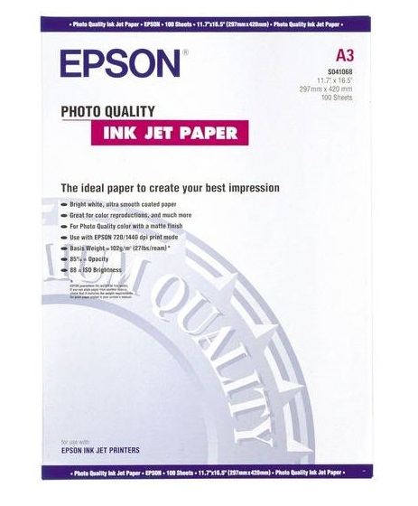 C13S041069 - Photo Quality Inkjet Paper (A3)